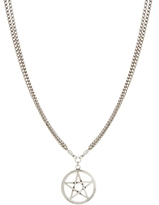 Asos Pentagram Pendant Necklace - Burnished silver