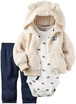 Carter's 3 Piece Cardigan Set (Baby) - Tan - 3 Months