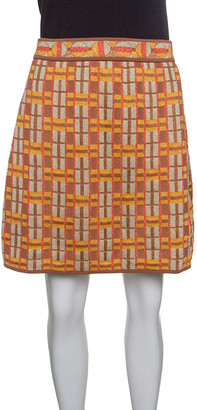 M Missoni Multicolor Lattice Knit A Line Mini Skirt M