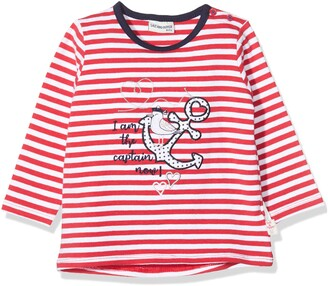 Salt&Pepper Salt and Pepper Baby Girls' Gestreift mit Anker Stickerei Longsleeve T-Shirt