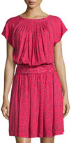See by Chloe Printed Short-Sleeve Blouson Dress, Red