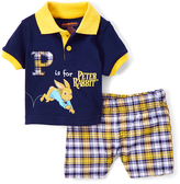 Children's Apparel Network Blue Peter Rabbit Polo & Plaid Shorts - Infant