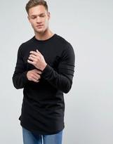 Jack and Jones Longline Curved Hem Sweatshirt