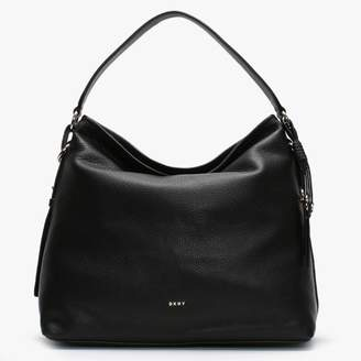 DKNY Marcy Black Pebbled Leather Hobo Bag