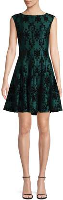 Gabby Skye Embroidered Fit--Flare Dress