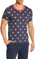 Alternative Star Print Drop Neck Crew Tee