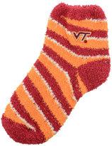 For Bare Feet Virginia Tech Hokies Sleep Soft Candy Striped Socks