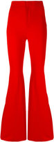 Givenchy high waist flared trousers - women - Viscose/Polyamide/Spandex/Elastane/Silk - 38