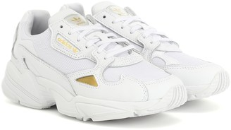 adidas Falcon leather-trimmed sneakers