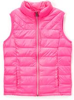 Roper Pink Parachute Crushable Puffer Vest - Girls