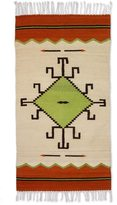 Novica Handcrafted Wool 'Spider Sun' Zapotec Rug 2.5x5 (Mexico)