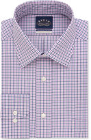 Eagle Men's Classic/Regular Fit Non-Iron Stretch Collar Blue Check Dress Shirt