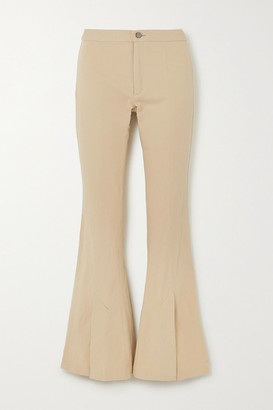 Maggie Marilyn Still Dreaming Stretch-organic Cotton Flared Pants - Beige
