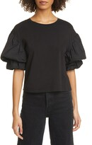 Joie Bee Double Puff Sleeve Cotton Top