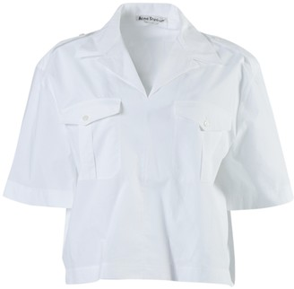 Acne Studios White Poplin Button-down Shirt