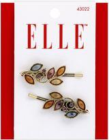 Elle 2-Pack Gold Stone Flower Bobby Pins