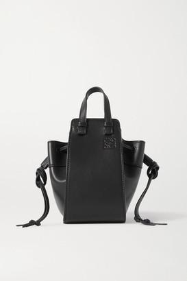 Loewe Hammock Mini Leather Shoulder Bag - Black