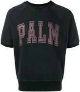 Palm Angels palm slogan crop T-shirt - men - Cotton - M