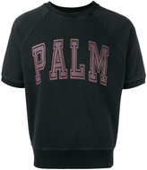 Palm Angels palm slogan crop T-shirt - men - Cotton - S