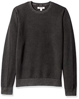 Goodthreads Amazon Brand Men's Soft Cotton Thermal Stitch Crewneck Sweater