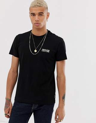 Versace t-shirt with gold chest logo-Black