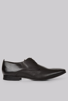 Moss Bros Charlton Pindot Black Derby Shoes