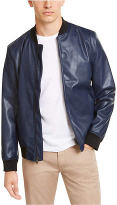 Alfani Men Faux-Leather Bomber Jacket
