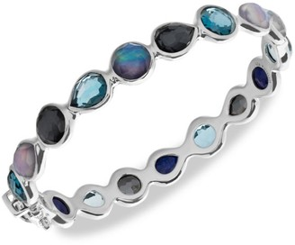 Ippolita Rock Candy Sterling Silver & Mixed-Stone All-Around Hinged Bangle