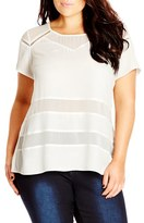 City Chic Plus Size Women's Ladder Inset Top