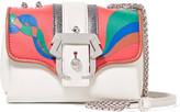 Paula Cademartori Sylvie appliquéd leather and suede shoulder bag