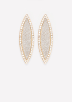 Bebe Marquise Glitter Earrings