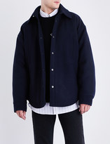 Balenciaga Button-detailed wool peacoat overshirt