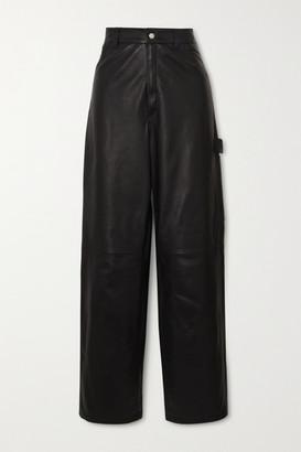 Unravel Project Leather Straight-leg Pants - Black