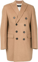 DSQUARED2 double breasted coat - men - Camel Hair - 46