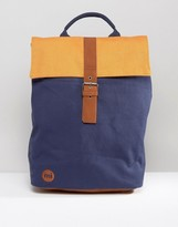 Mi-Pac Canvas Day Pack Backpack Navy