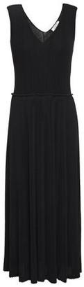 Nina Ricci Pleated Ribbed Crepe Midi Dress