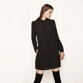 Maje Shirt dress with embroidered stars