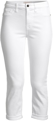 JEN7 by 7 For All Mankind Rolled Cuff Straight Cropped Jeans