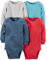 Carter's Baby Boys' 4-Pk. Long-Sleeve Bodysuits
