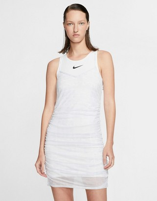Nike mesh layer mini dress in white