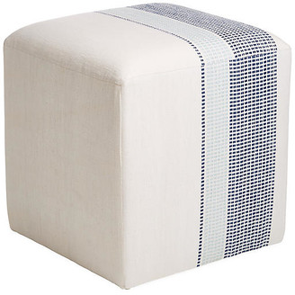 Imagine Home Azur Cube Ottoman - Navy/Turquoise