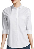 WORTHINGTON Worthington 3/4-Sleeve Button-Down Shirt