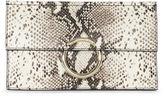Karen Millen Snake-effect O-ring Clutch - Snake Print