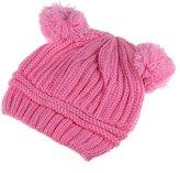 Leegor Cute Baby Kids Girl Boy Dual Balls Warm Winter Knitted Cap Hat Beanie