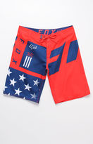 "Fox Red White And True 21"" Boardshorts"