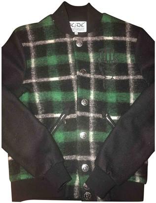 JC de CASTELBAJAC Green Wool Leather Jacket for Women