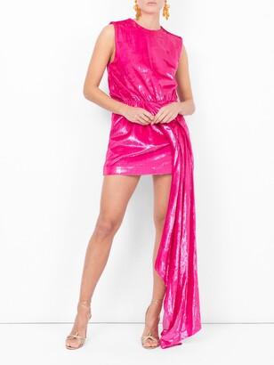 Halpern draped waist shift dress