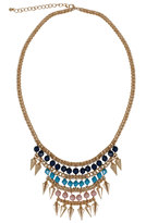 Yours Clothing Gold, Pink Turquoise & Blue Statement Necklace