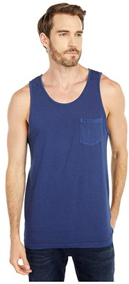 RVCA PTC Pigment Tank Top (Moody Blue) Men's Clothing