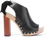 Proenza Schouler Leather Platform Sandals - Black